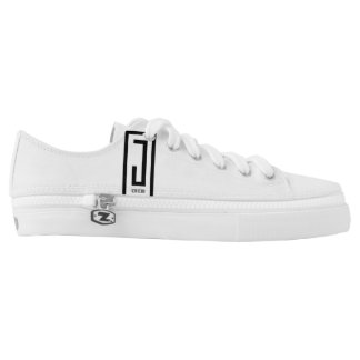 white logo j wear design unisex canvas shoes