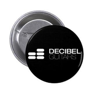 White logo on black 6 cm round badge