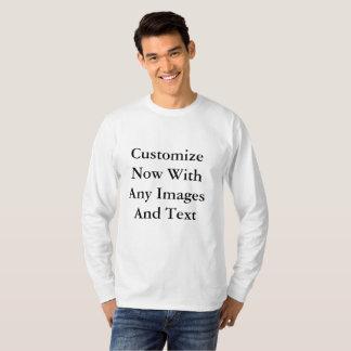 White Long Sleeve Men T-Shirt