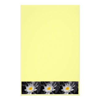 white lotus flower stationary stationery design