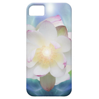 White lotus in blue crystal barely there iPhone 5 case