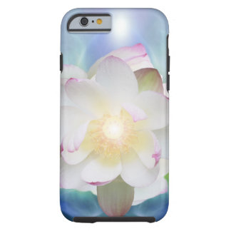 White lotus in blue crystal tough iPhone 6 case