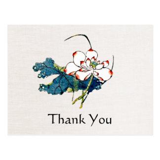 White Lotus Massage Therapist Thank You Postcard