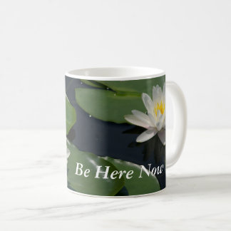 White Lotus Waterlilies Coffee Mug
