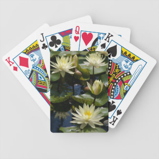 White lotus waterlilies lily pads playing cards