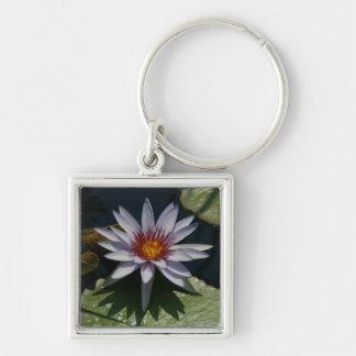 White Lotus Waterlily Keychain