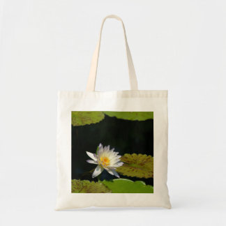 White Lotus Waterlily tote bag