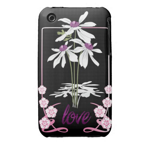 White Love Daisies iPhone 3 Case-Mate Cases
