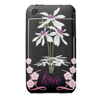White Love Daisies iPhone 3 Case-Mate Case