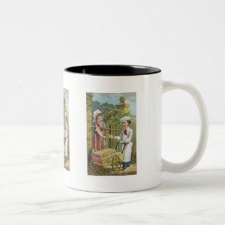 White Luster Corn Starch Coffee Mug
