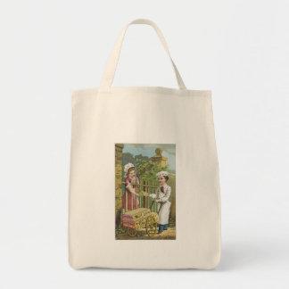 White Luster Corn Starch Tote Bag