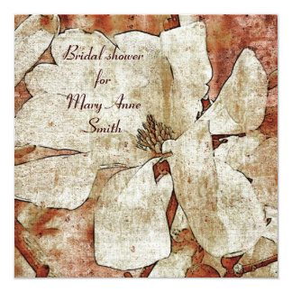 White Magnolia Bridal shower invitation template