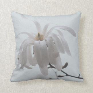 White magnolia photography cushion