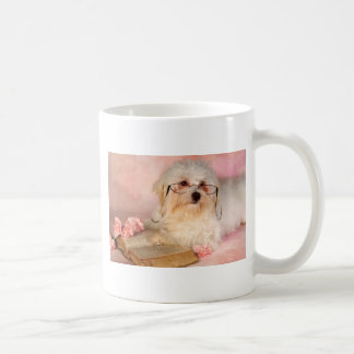 White Maltese dog Coffee Mug