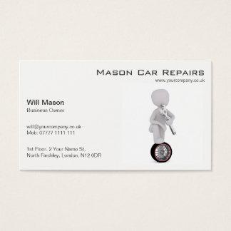 White Man, Mechanic Business Card