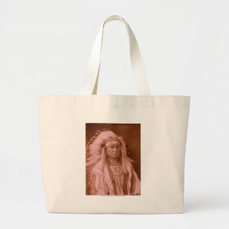 White Man Runs Him - Crow Large Tote Bag