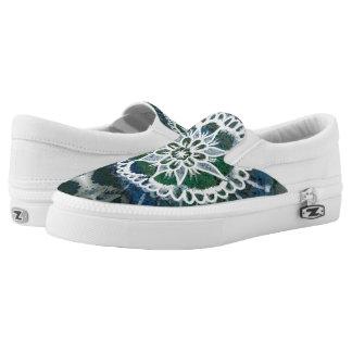 White mandala, Expression , Zipz Slip On Shoes
