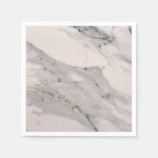 White Marble 1 Disposable Serviettes