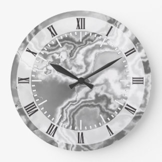 White Marble 2 Large Clock