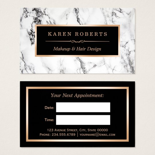 White Marble Beauty Salon Hair Dresser Appointment