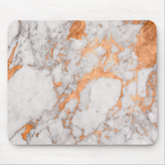White Marble & Copper Mouse Mat