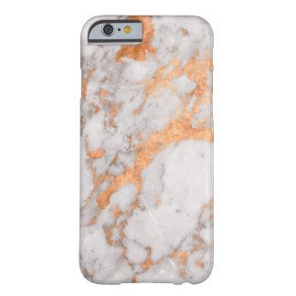 White Marble & Copper Phone Case