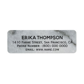 white marble detail elegant return address label