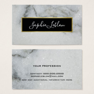 white marble elegant business card