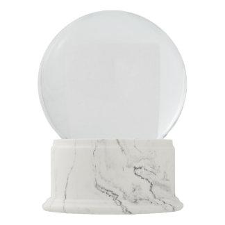 White Marble Finish Snow Globe Snow Globes