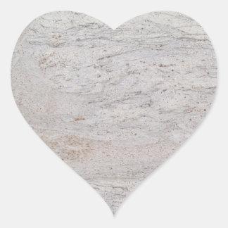 White Marble Heart Sticker
