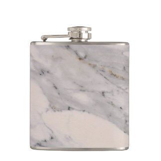 White Marble Hip Flask