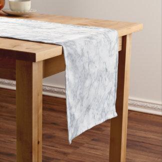 White Marble Look Short Table Runner