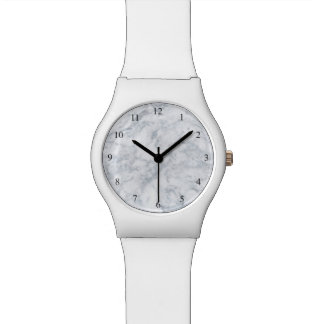 White Marble Look Watch