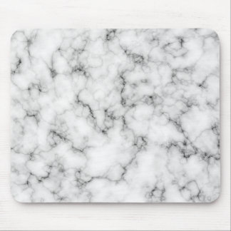 White Marble Mouse Pads