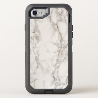 White Marble OtterBox Defender iPhone 8/7 Case