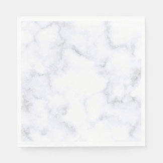 White Marble Paper Napkin