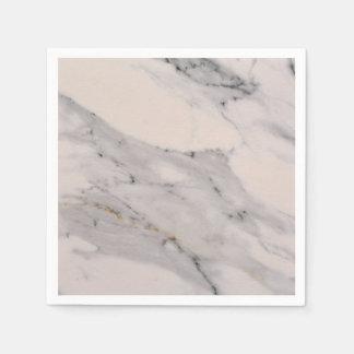 White Marble Paper Serviettes
