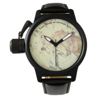 White marble pattern wrist watch