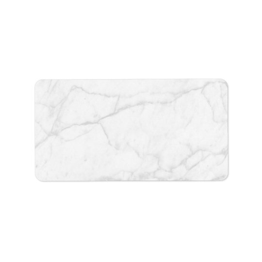 White Marble   Personalised Blank Address Label