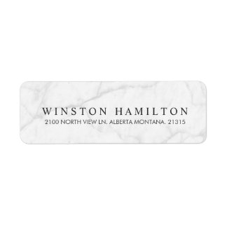White Marble | Personalized Return Address Return Address Label