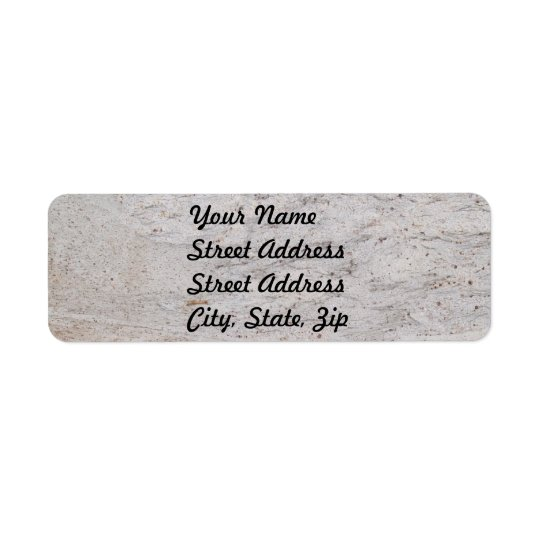 White Marble Return Address Sticker Return Address Label