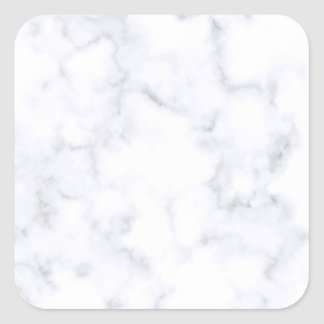 White Marble Square Sticker