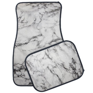 white marble stone car mat