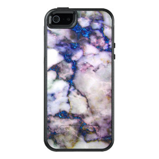 White Marble Stone With Pink And Blue OtterBox iPhone 5/5s/SE Case