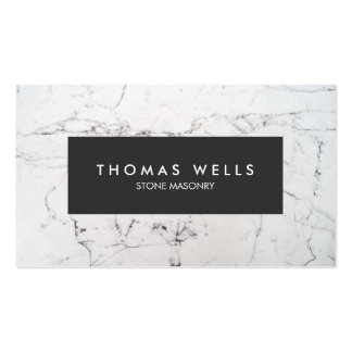 White Marble Stonemason Architect Pack Of Standard Business Cards