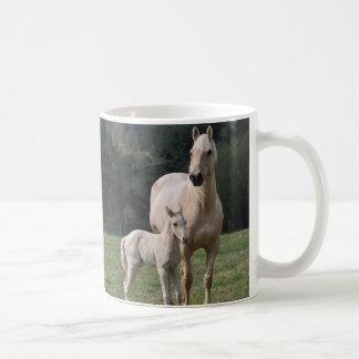 White Mare And Colt Coffee Mug