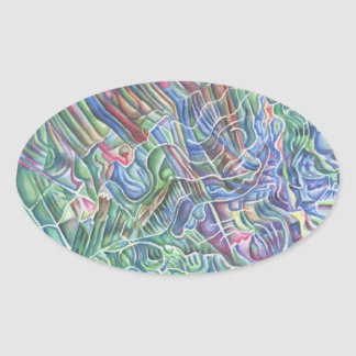 """""""White Marks of Lines"""" abstract sticker"""