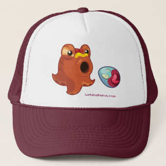 White Maroon Hotdogtopus Hotdog Hat Cap With Egg