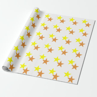 White Matte Two Stars Wrapping Paper