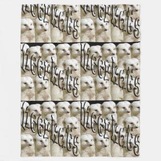 White Meerkat Army, Large Fleece Blanket
